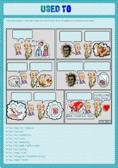 Interactive worksheet Grandma and Grandpa remember... (USED TO)
