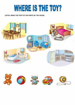 Interactive worksheet Where is the toy?