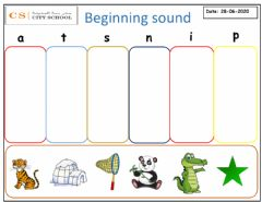 Ficha interactiva Beginning sound