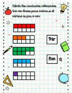 Interactive worksheet Pares y nones