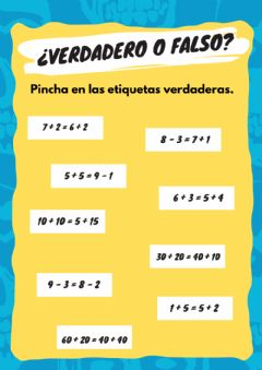 Interactive worksheet ¿Verdadero o Falso?