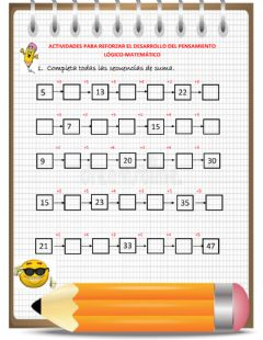 Interactive worksheet Cálculo mental