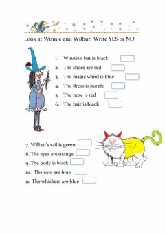 Ficha interactiva Winnie and wilbur