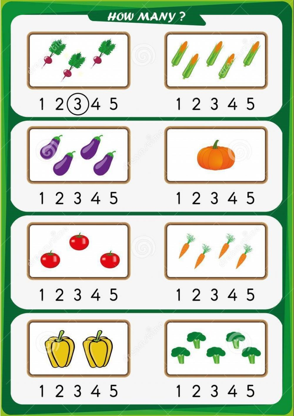 Count objects worksheet