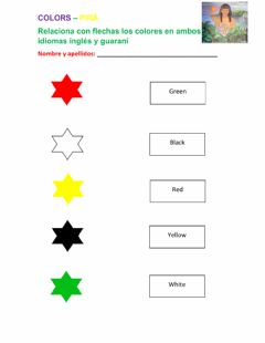 Interactive worksheet Colores guaraní e ingles
