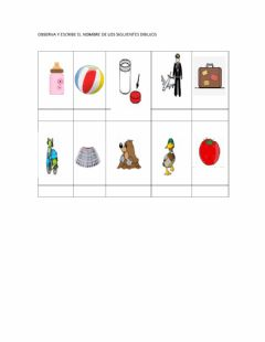 Interactive worksheet Palabras con t