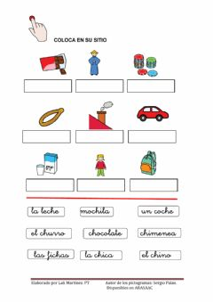 Interactive worksheet Letra CH