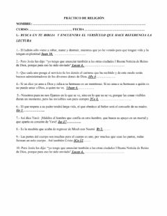 Interactive worksheet Busca en tu biblia