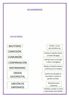 Interactive worksheet Los Sacramentos