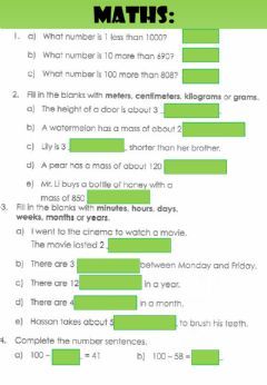 Interactive worksheet WEEK 20: WEDNESDAY: Review