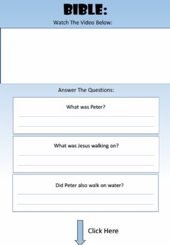 Interactive worksheet WEEK 20: WEDNESDAY: Peter Walks On Water