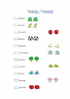 Interactive worksheet These and Those