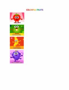 Interactive worksheet colourful fruits