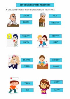 Interactive worksheet Practicing with adjectives