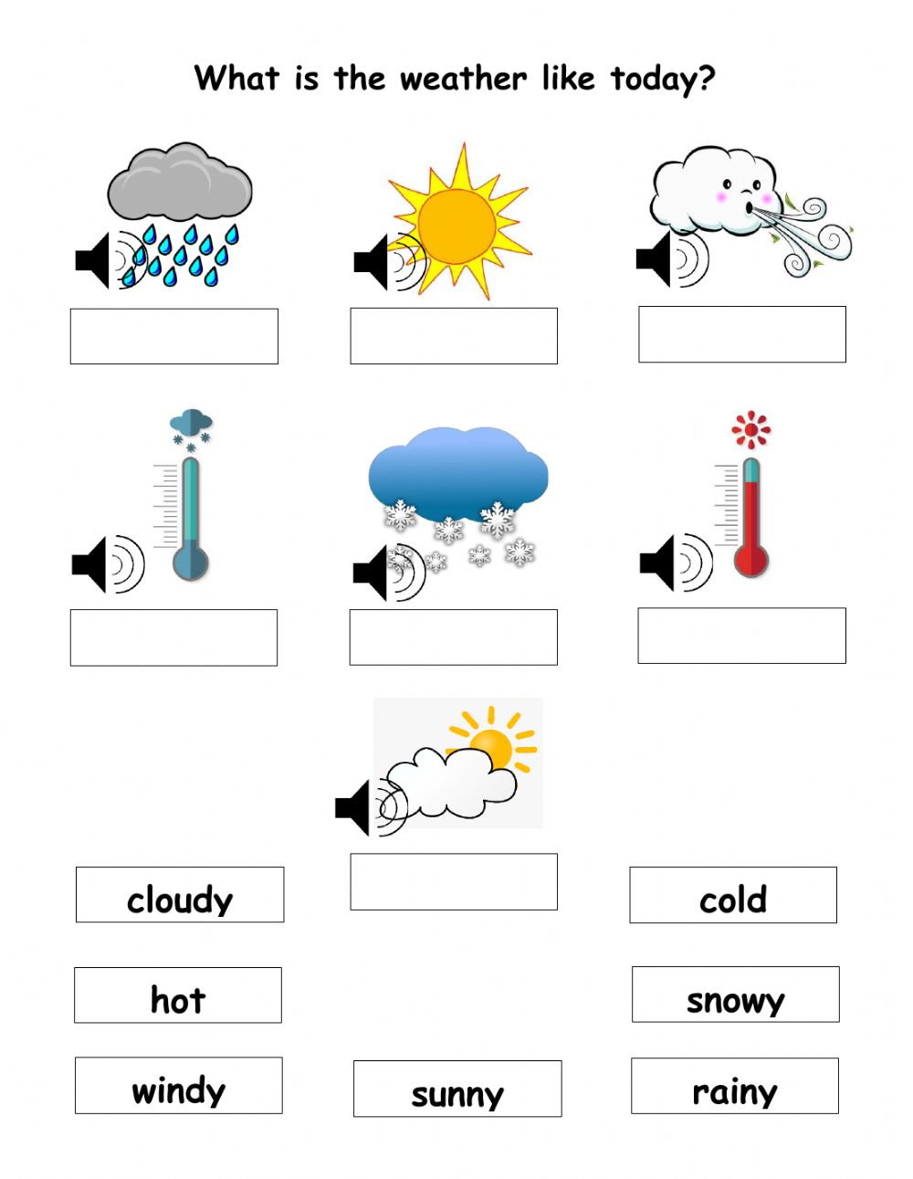 The Weather Worksheet For Year 2