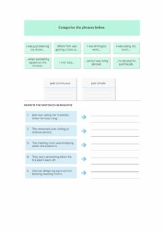 Interactive worksheet Past simple and continuous revision
