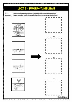 Interactive worksheet Unit 5: Urutan tumbesaran tumbuhan