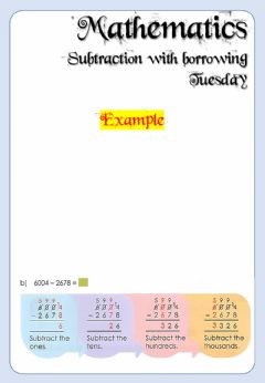 Interactive worksheet Week 20 - Tuesday - Math 4 and 5