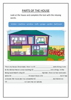 Interactive worksheet Parts with the House