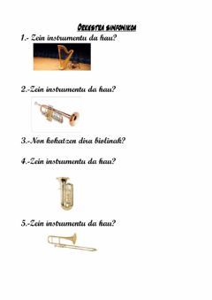Interactive worksheet Orkestra Instrumentuak