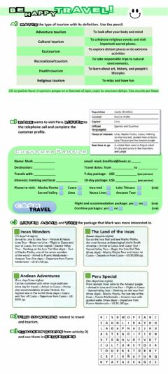 Interactive worksheet Be happy, Travel! Part 2