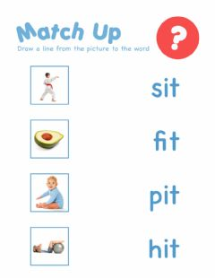 Interactive worksheet Word Family IT