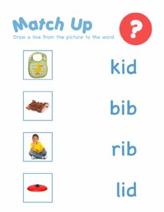 Interactive worksheet Word family id id