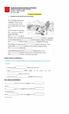 Interactive worksheet Past tense test