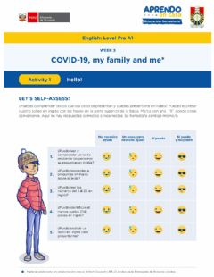 Interactive worksheet COVID-19, my family and me W-3 (Pre-A1)
