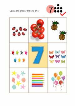 Ficha interactiva Sets of 7