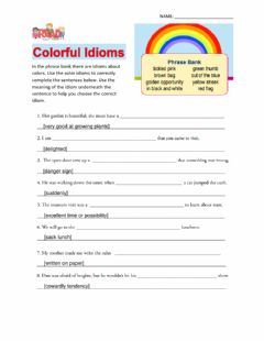 Interactive worksheet Colorful Idioms