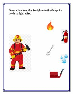 Interactive worksheet Community helper: firefighter