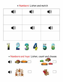 Interactive worksheet Numbers and toys