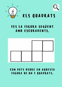 Interactive worksheet Enigma quadrat ratlles