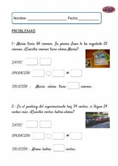 Interactive worksheet Ficha problemas 3