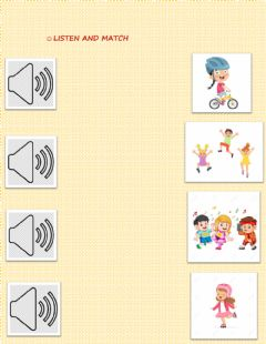 Ficha interactiva Verbs for kinder