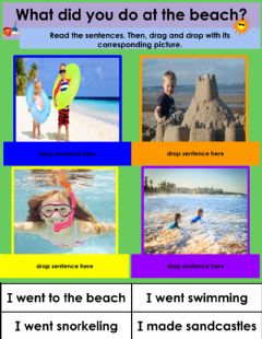 Interactive worksheet What did you do at the beach?