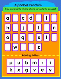 Interactive worksheet Alphabet Practice