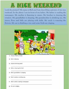 Interactive worksheet Reading
