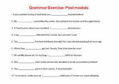 Interactive worksheet Modal verbs (Past)