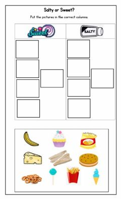 Interactive worksheet Sweet or Salty