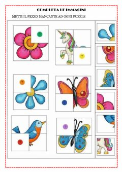 Interactive worksheet Completa le immagini