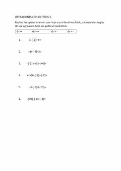 Interactive worksheet Enteros 3