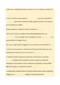 Interactive worksheet La LUCE