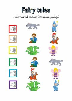Interactive worksheet Fairy tale characters