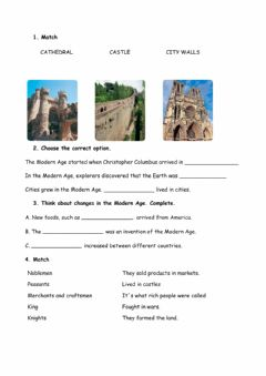 Interactive worksheet Middle and Modern Age