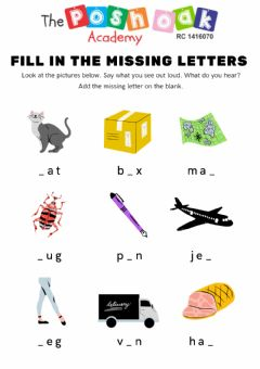 Interactive worksheet Fill in missing letters