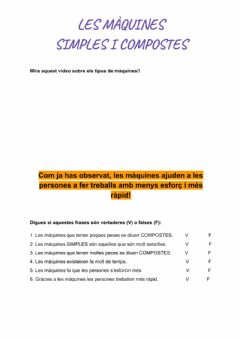 Interactive worksheet Maquines2