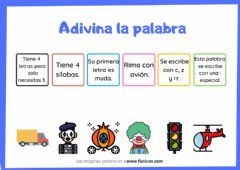 Interactive worksheet Adivina la palabra