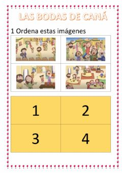 Interactive worksheet Las bodas de cana